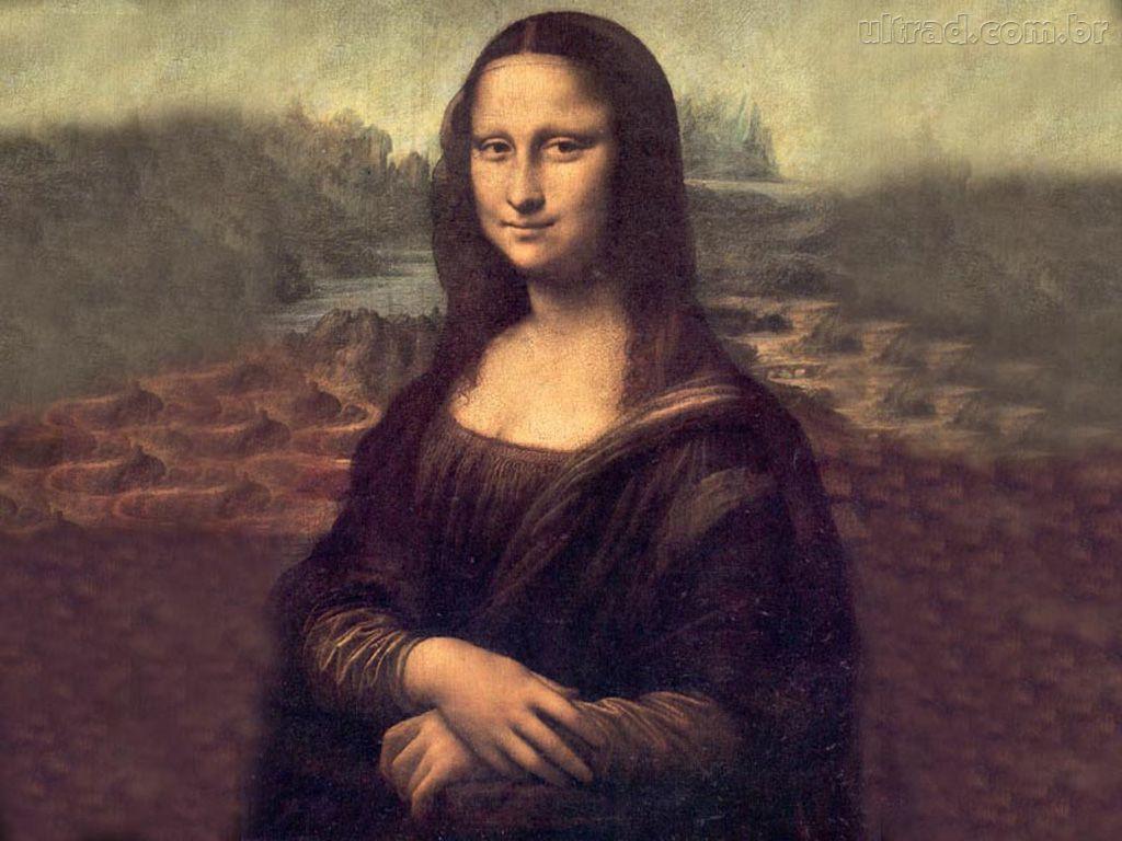 Papel de Parede - Mona Lisa - Leonardo da Vinci