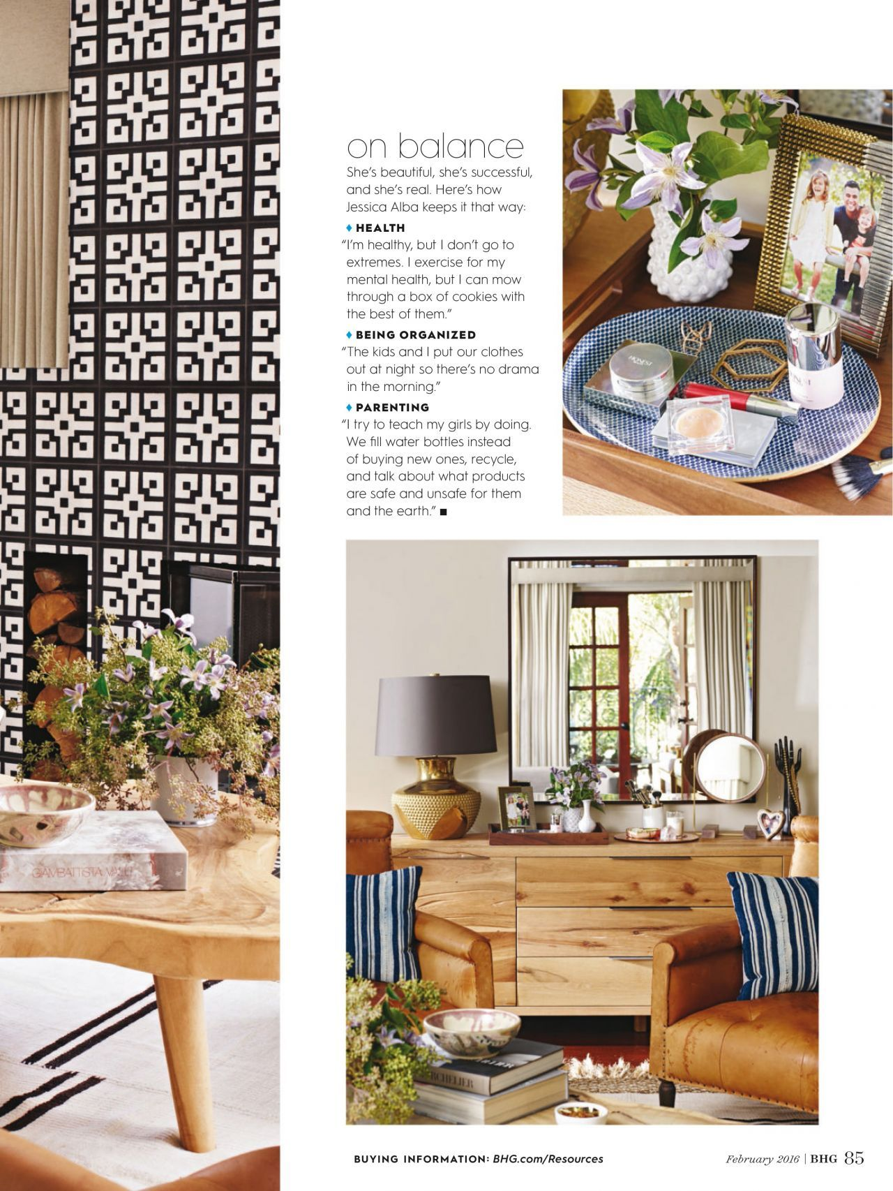 Jessica Alba   Better Homes And Gardens Magazine February 2016 Issue