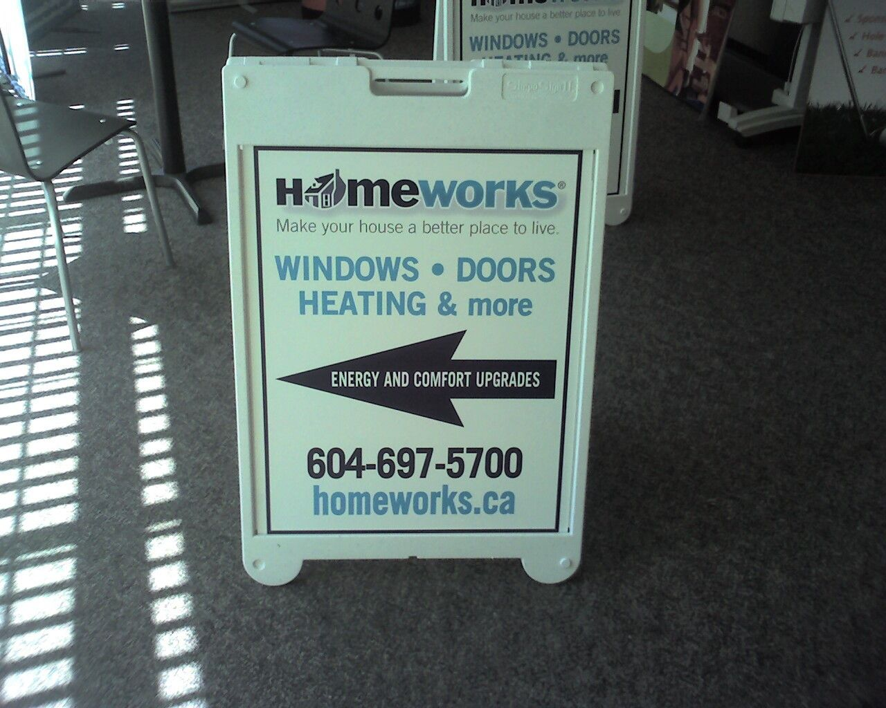 Classic sandwich board for HomeWorks Windows and Doors created by ...