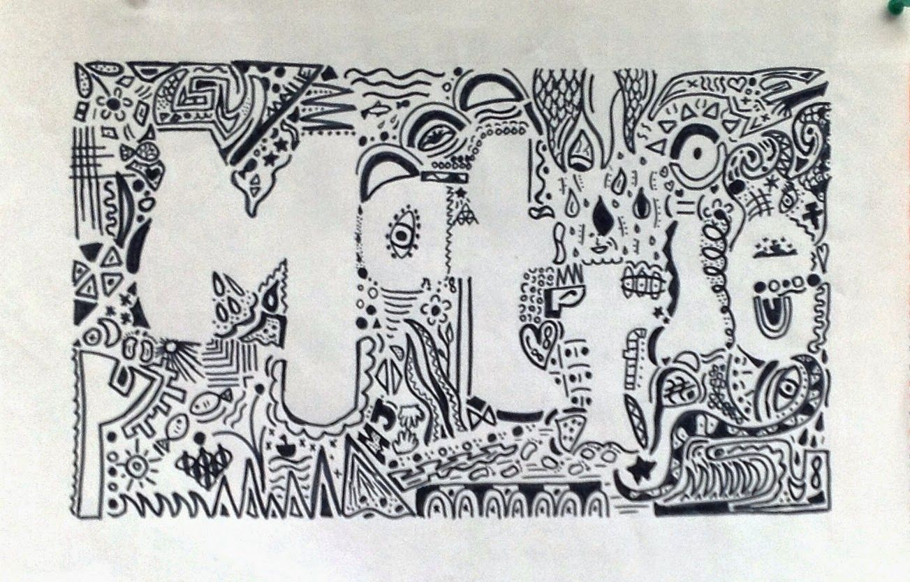 Positive Negative Space Zentangle With Unity And Variety