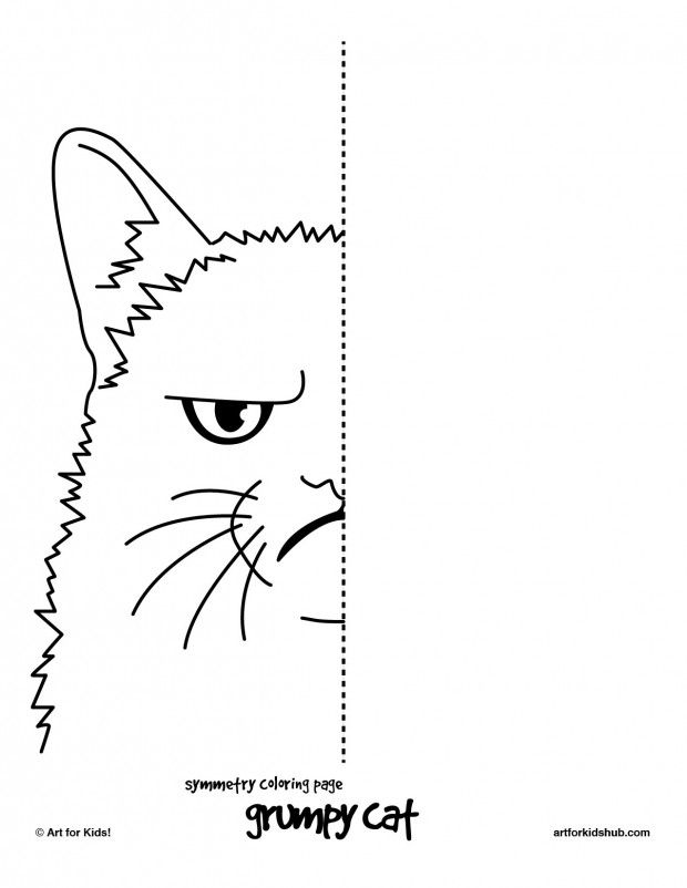 6 Free Coloring Pages Cat Symmetry Art for Kids Hub CC