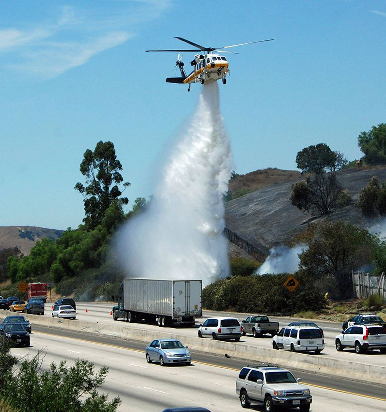 Fire fighting from the air. Fire trucks, Fire service