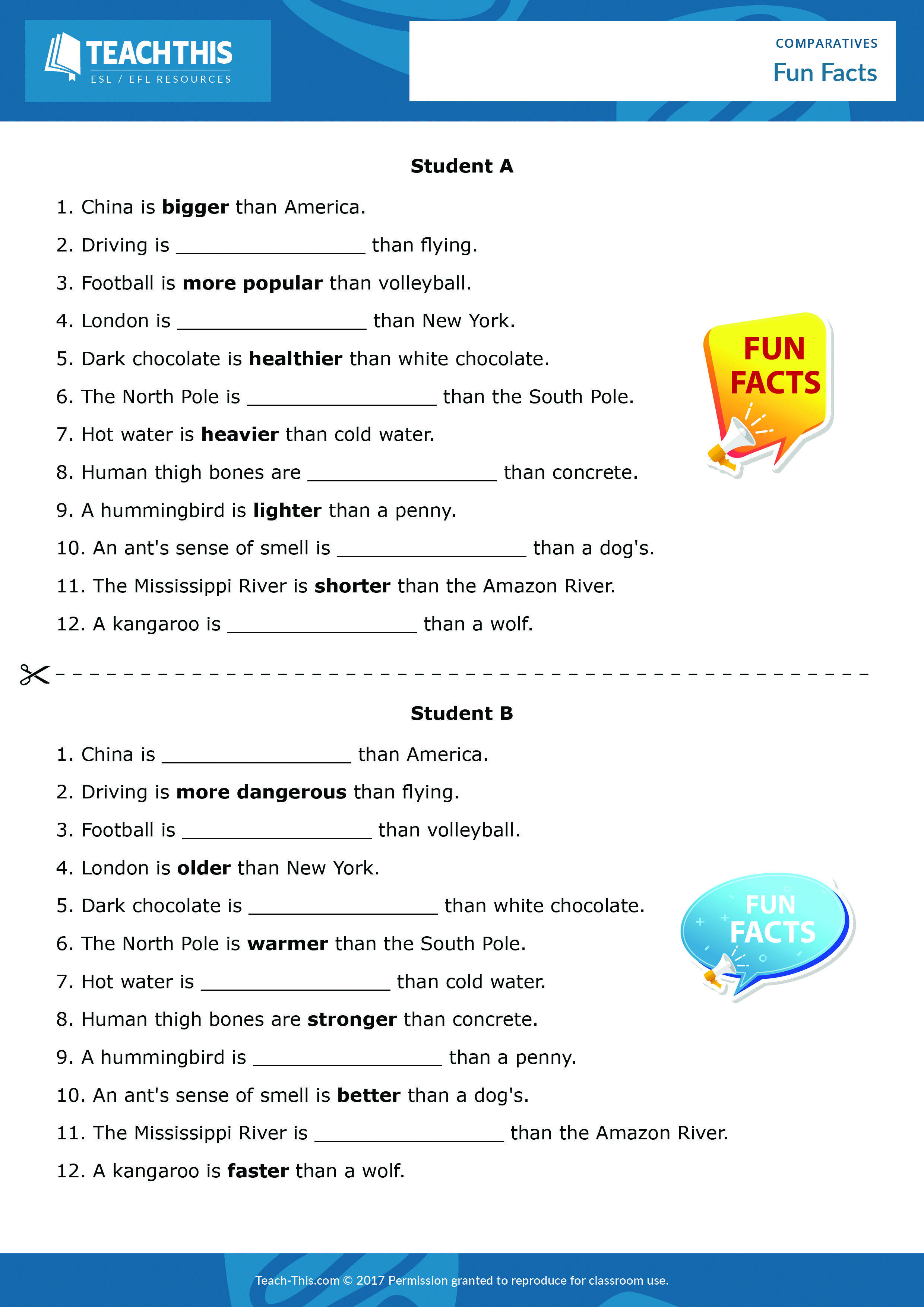 Comparatives Comparative Adjectives Worksheet Comparative Adjectives Elementary Writing Activities [ 3508 x 2480 Pixel ]