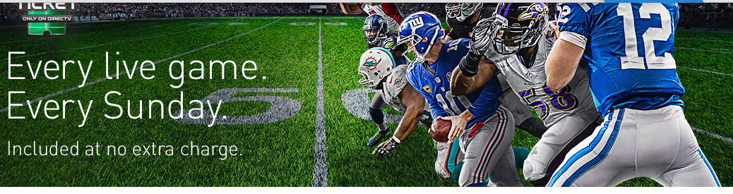 Get in the game with NFL SUNDAY TICKET. Only on DIRECTV