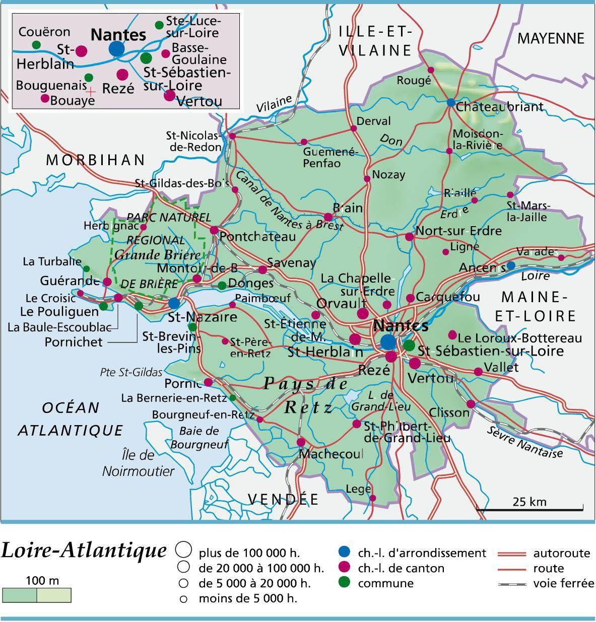 Carte De Loire Atlantique Loire Atlantique Loire Atlantique