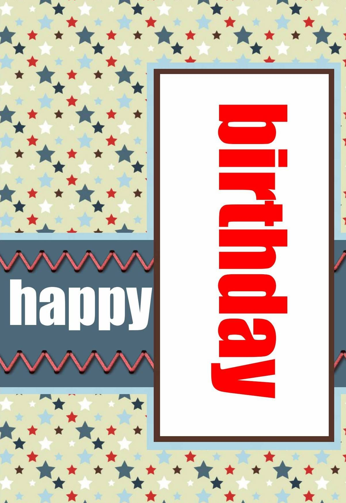 Happy birthday red white blue made personal with pixingo