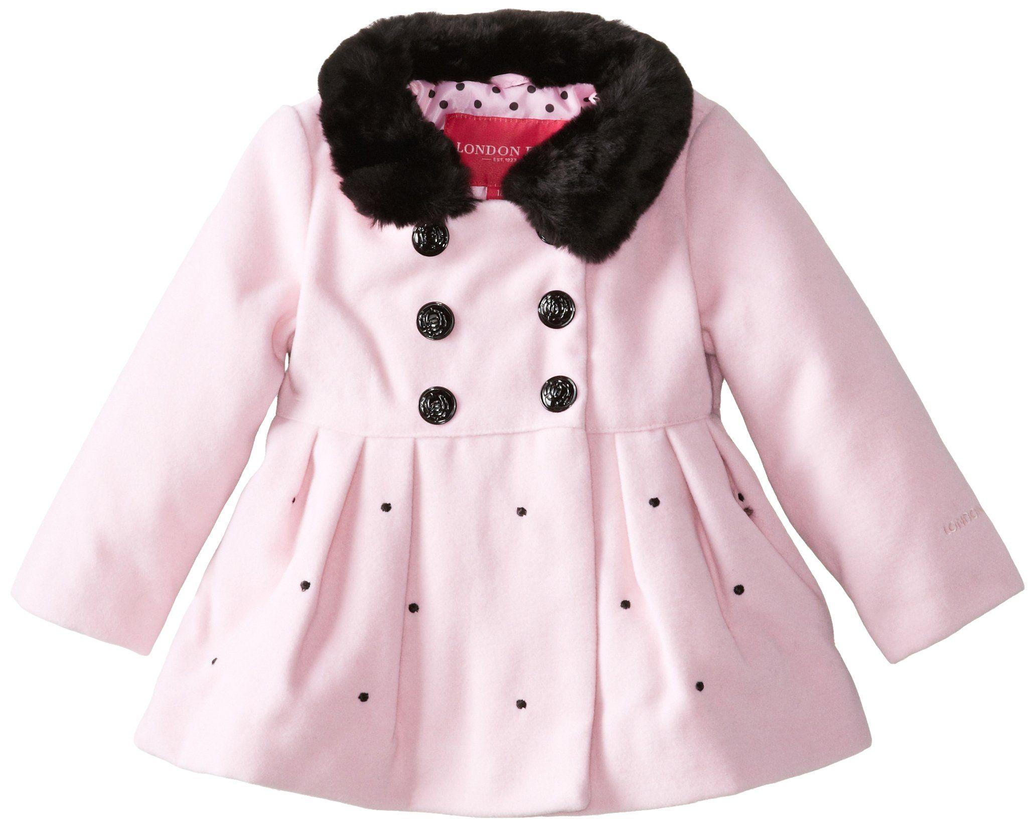 2b05fa66f4bb London Fog Baby Girls  Faux Wool Jacket