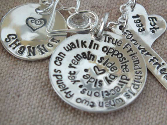 Best Friend Gift Unique Long Distance Quote For Friendship Necklace Stuff 2 Gifts