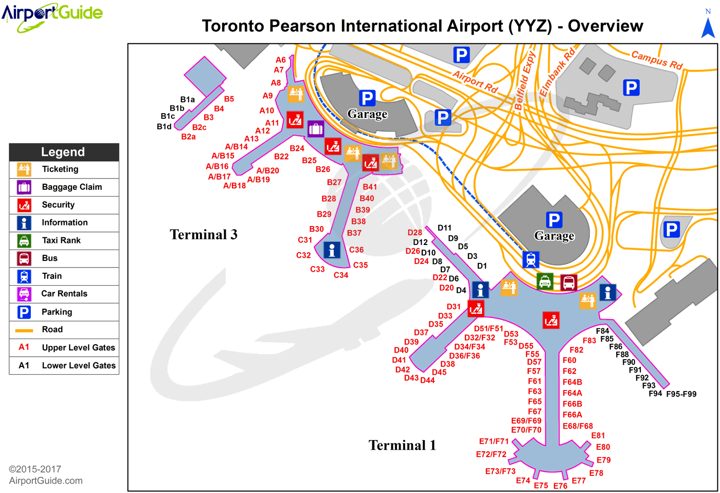 toronto airport arrivals map Toronto Lester B Pearson International Yyz Airport Terminal toronto airport arrivals map