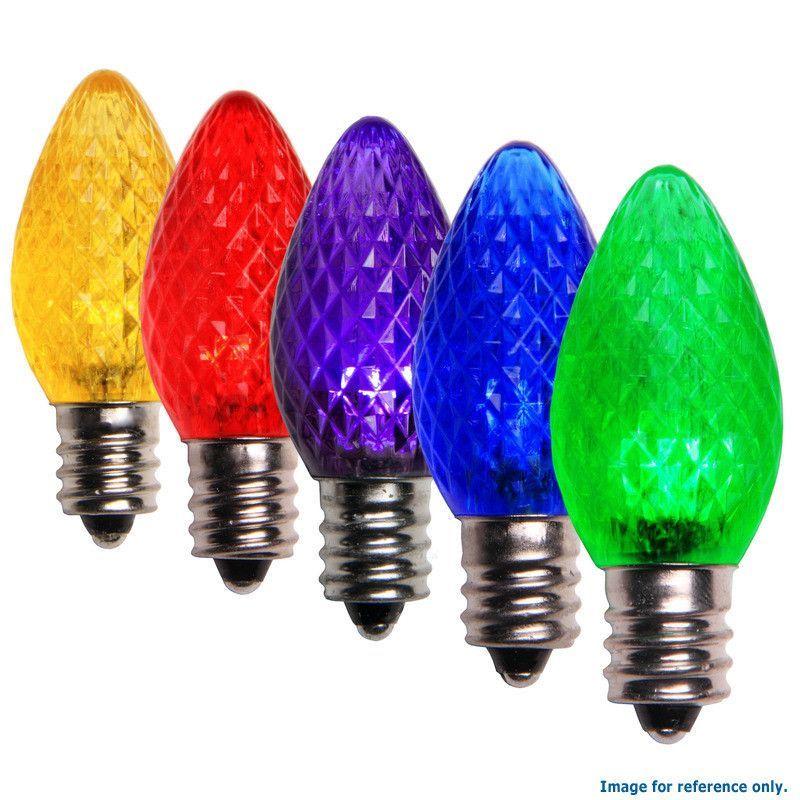 C7 Led Christmas Lamp Color Change Multicolor Light 25 Bulbs Rainbow Colors Color Color Splash