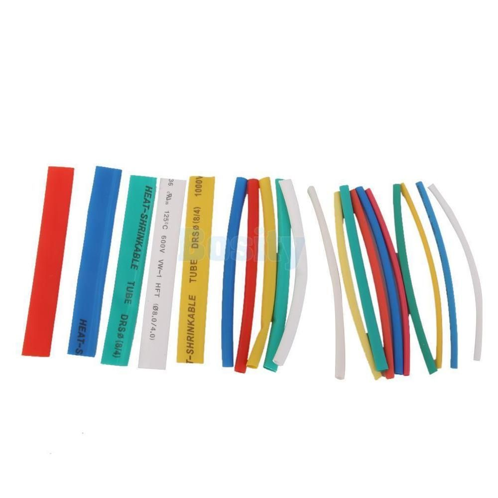 20 Piece Heat Shrink Tubing Electrical Wire Loom Multi Color 5 Size ...