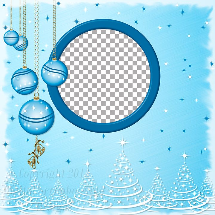 """Layout QP 30D.....Quick Page, Blue, Digital Scrapbooking, Christmas Time Collection, 12"""" x 12"""", 300 dpi, PNG File Format"""