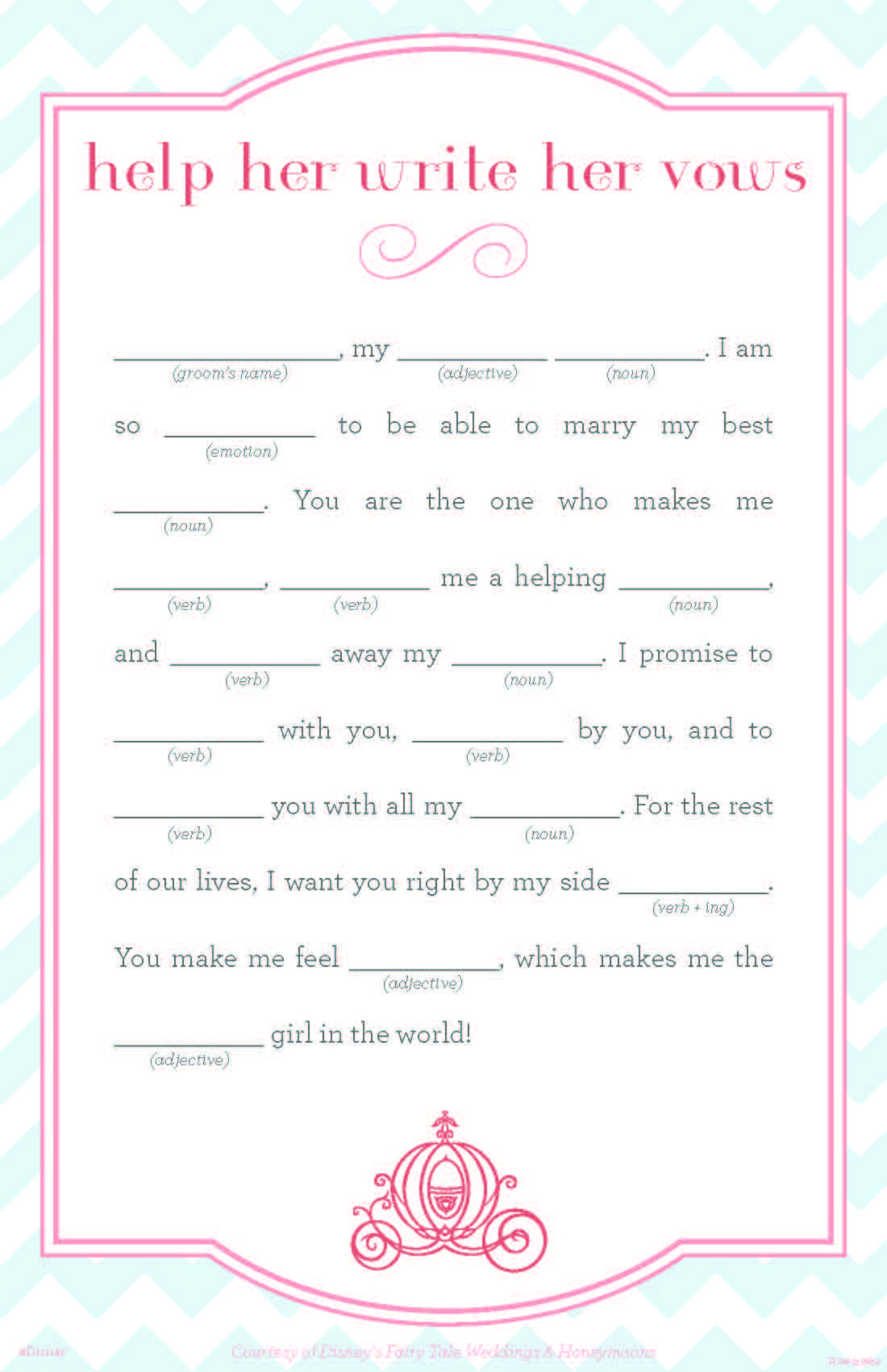 Bridal Mad Libs So Cute For A Bridal Shower