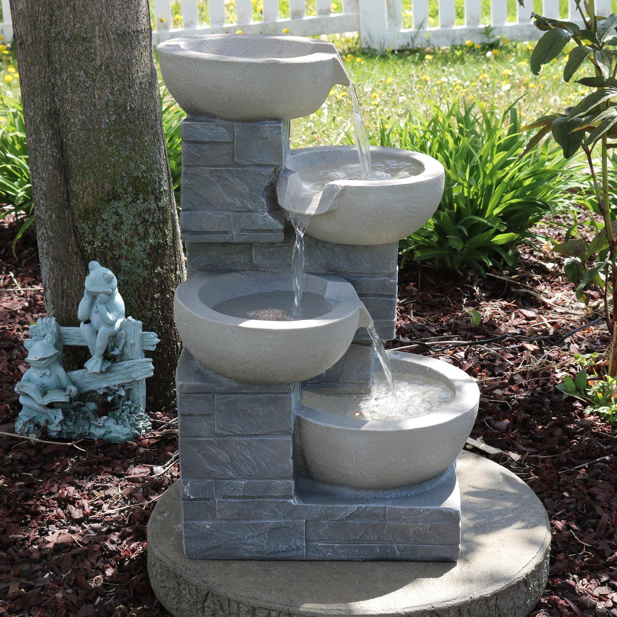 Resin And Fibergl Fountains Are