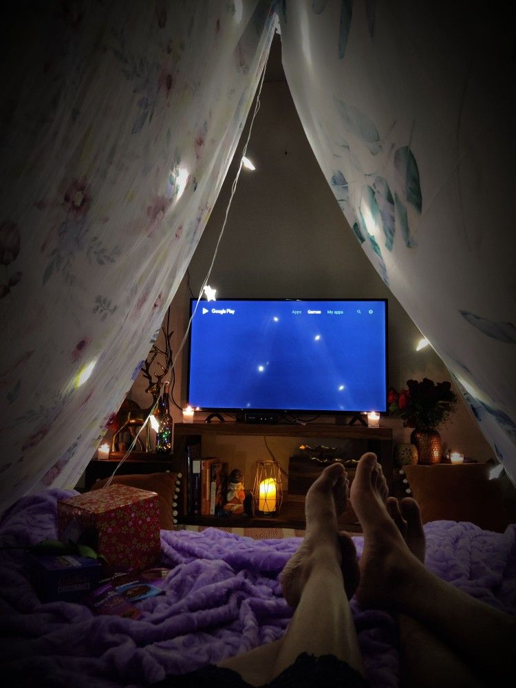 Blanket fort in 2020 tent kids room romantic date night