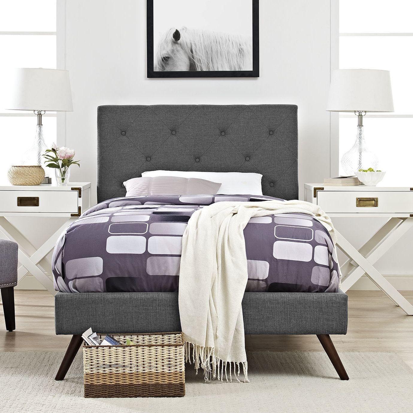 Terisa Upholstered Platform Bed Furniture, Upholstered