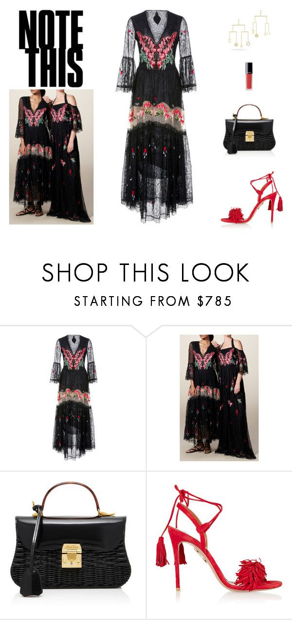 """""""Untitled #1215"""" by livnd ❤ liked on Polyvore featuring Temperley London, Mark Cross, Aquazzura, Chanel and modern"""