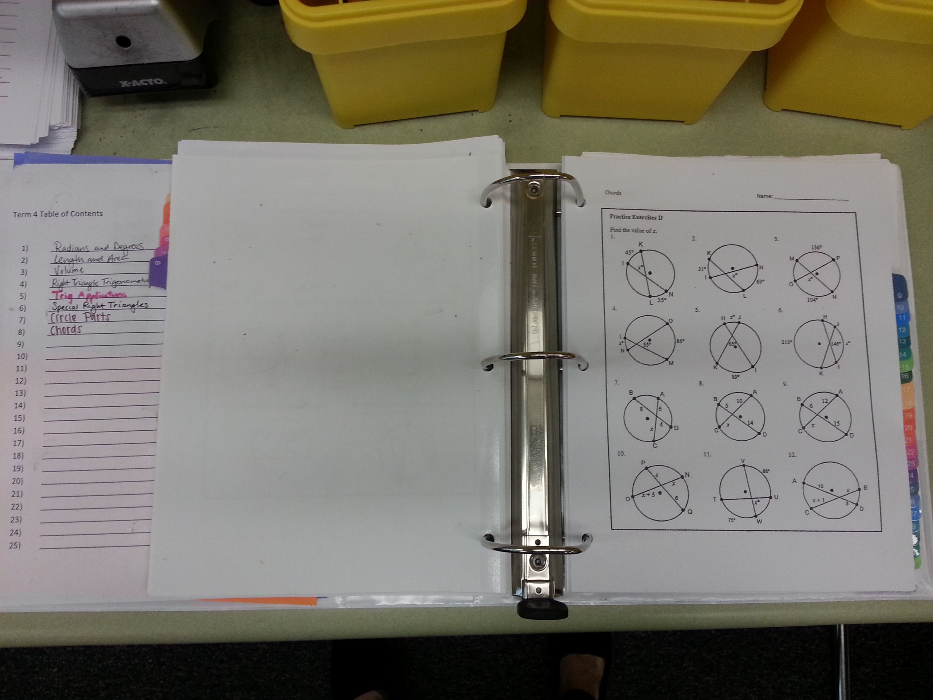 This Teacher Uses A Binder To Store Older Worksheets