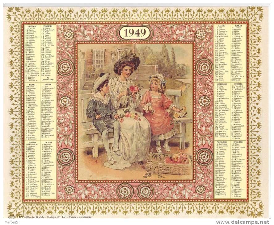 Calendario 1949.Calendario Dei Ricordi Anno 1949 Numero Dell Oggetto