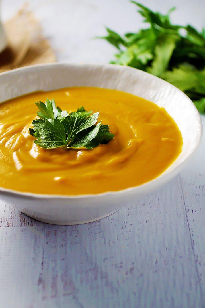 Savory Butternut Squash Soup #butternutsquashsoup