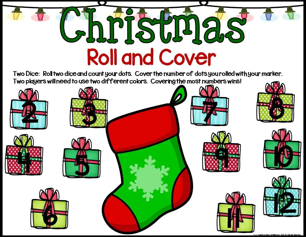 Christmas Math Center Dice Games For K 2nd Special
