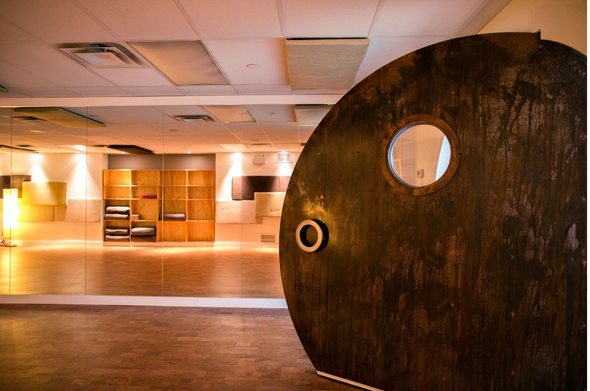 Chopra Yoga Centre In Toronto By Prototype Design Lab. A Giant, Custom  Steel Pivot · Door SealsPivot ...