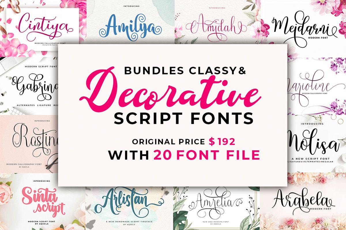 Download The Classy and Decorative Script Font Bundle (Bundle ...