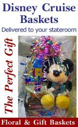 Disney Cruise Line baskets birthday gifts delivered to the room