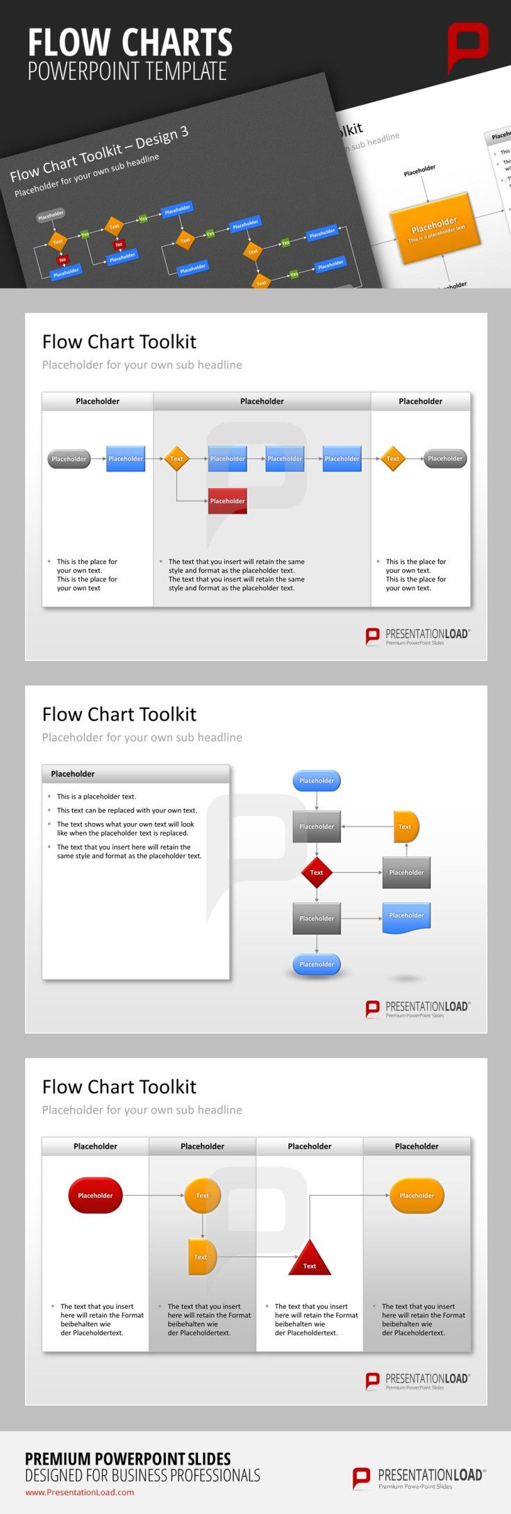 flow charts powerpoint templates create individual flow charts and use them to analyze manage or document specific processes in various fields  [ 736 x 2178 Pixel ]