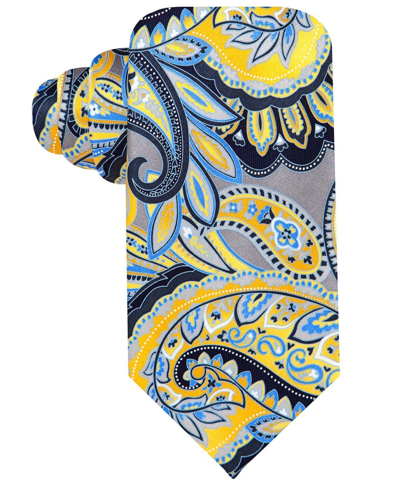Geoffrey Beene Printed Paisley Tie - Ties & Pocket Squares - Men - Macy's