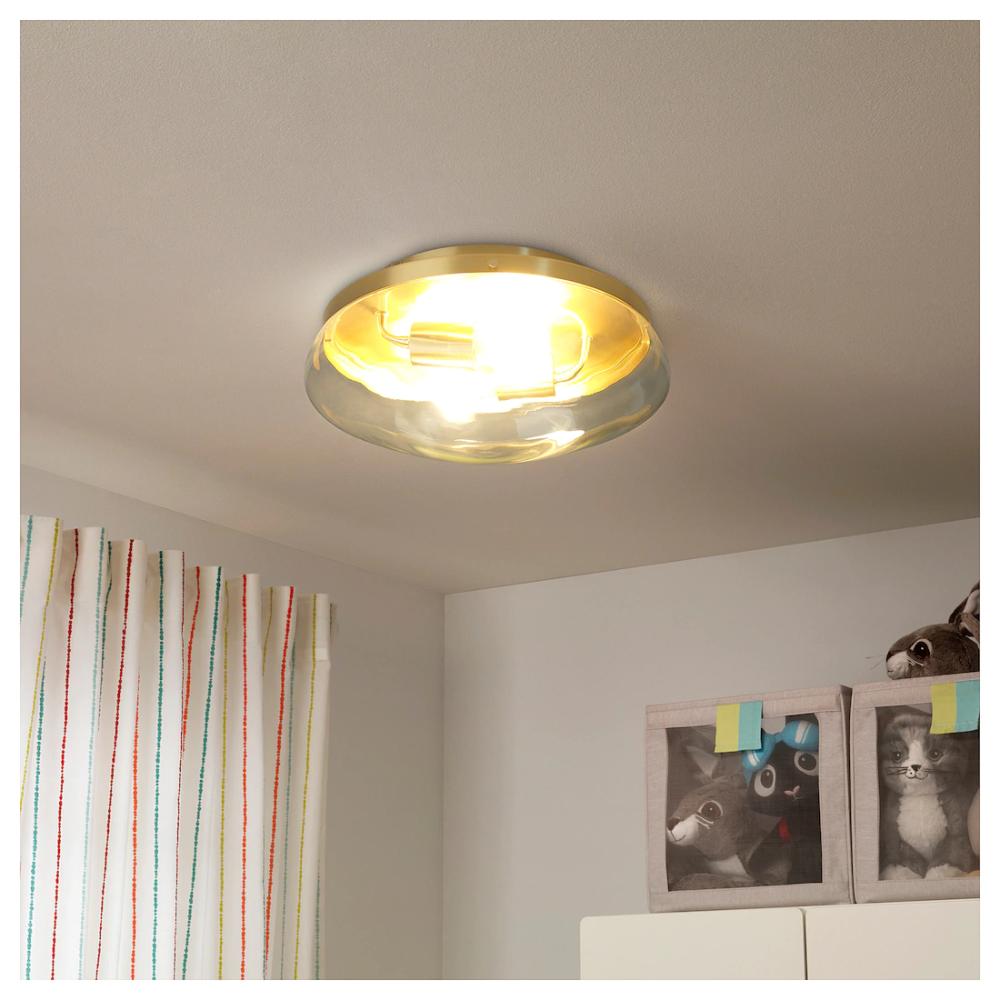IKEA ÅTERSKEN Ceiling lamp Ceiling lamp, Clear glass