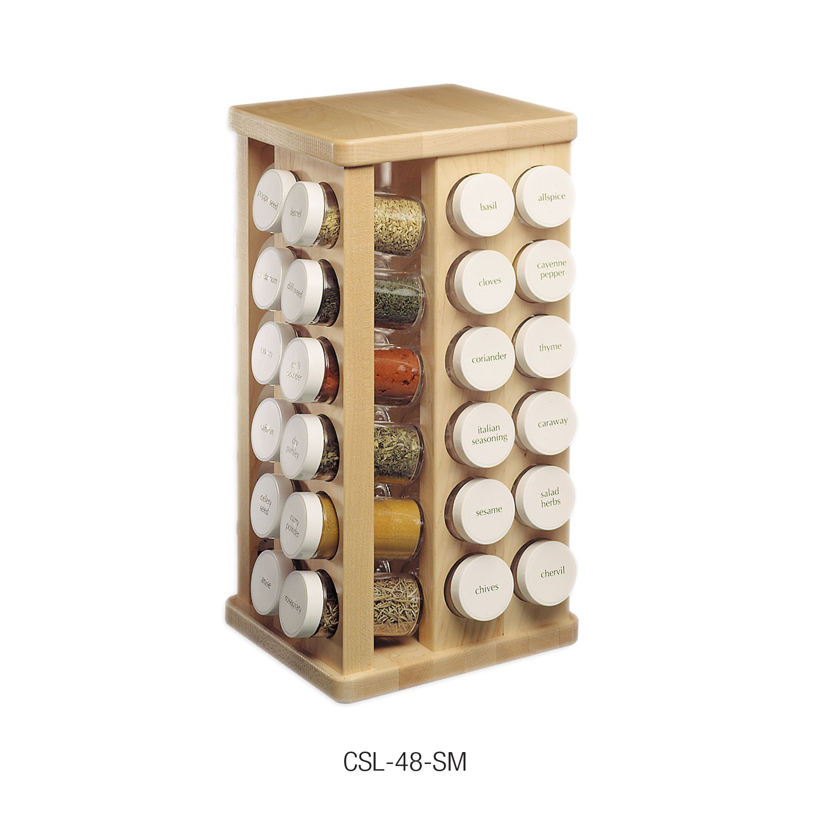 Adams Carousel Spice Rack   48 Bottles At Kitchen Universe. Constructed  Like Fine Furniture, J. Adams Clear Finished Hard Rock Sugar Maple Racks  Have An ...