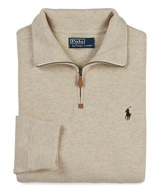 Polo Ralph Lauren French Rib Half Zip Pullover Pullovers Outfit Hoodie Fashion Half Zip Pullover