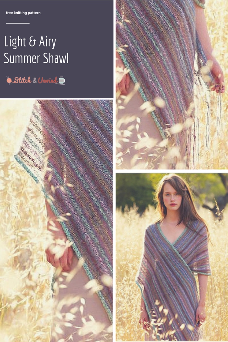 1cf88f4ce1c The Most Stunning Summer Knit Shawl Pattern You ll Ever See ...