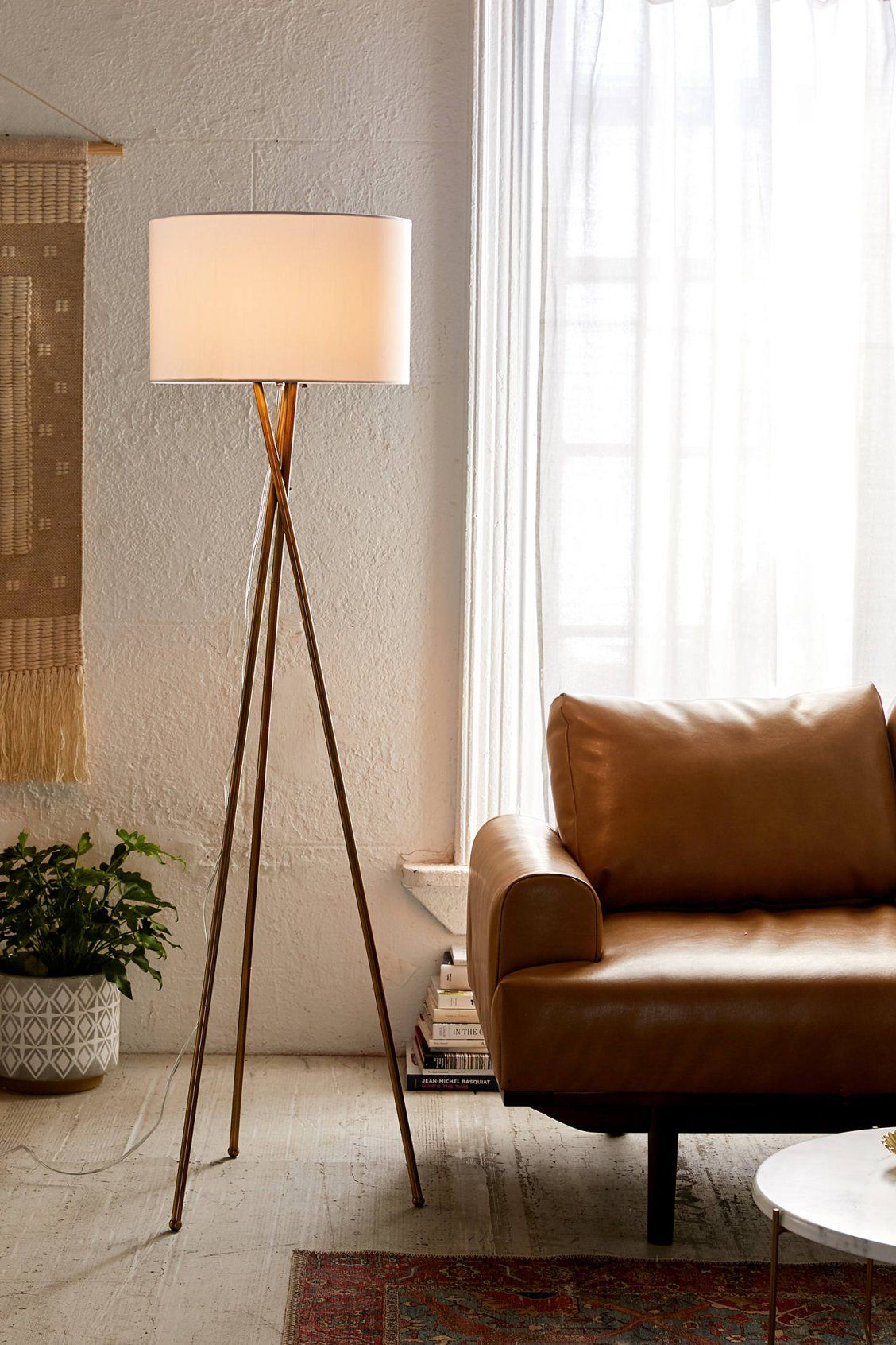 Clara Tripod Floor Lamp  Floor lamps living room, Tripod floor