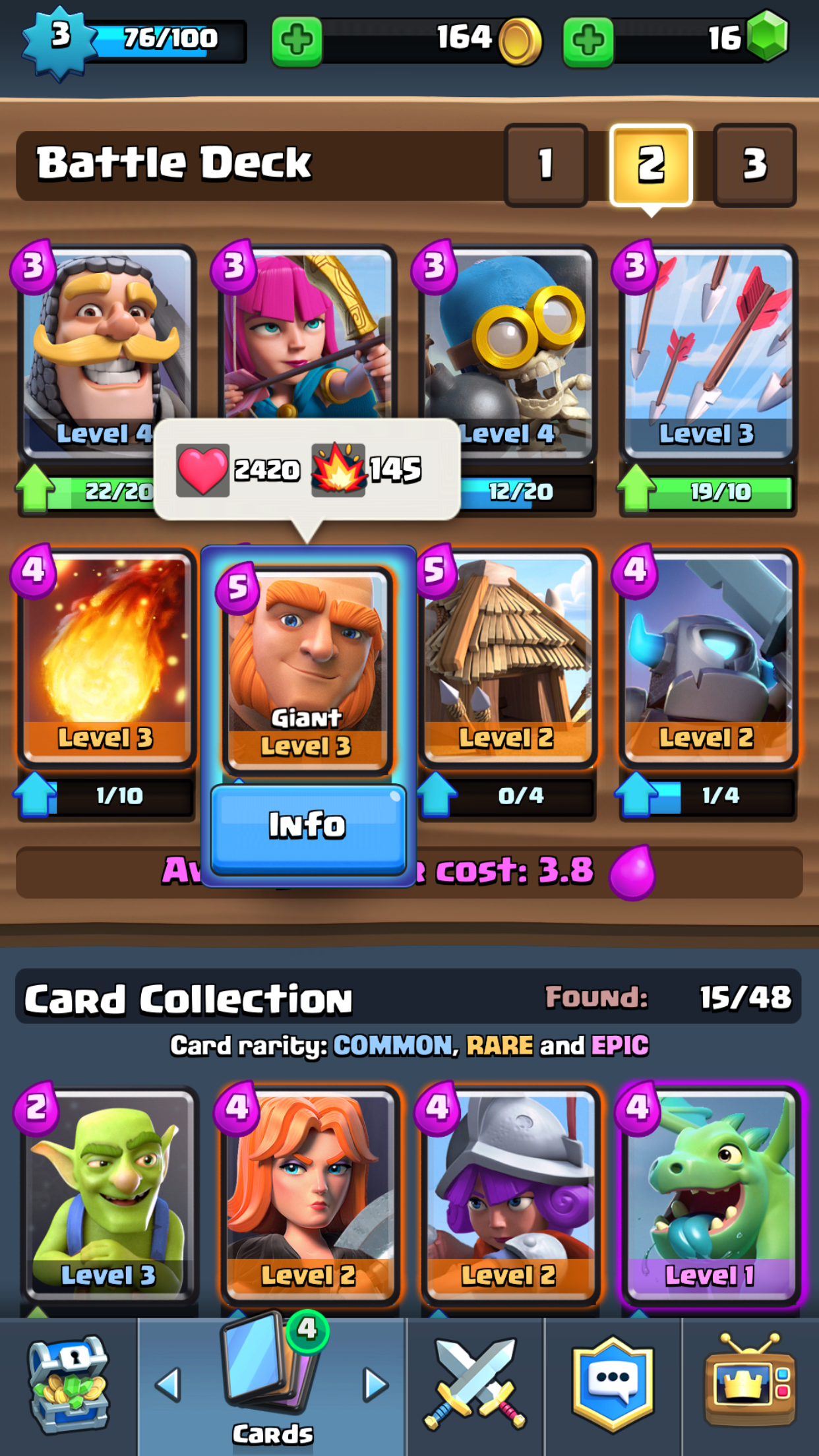 Clash royale the best deck for a beginner diversions for Clash royale deck arc x