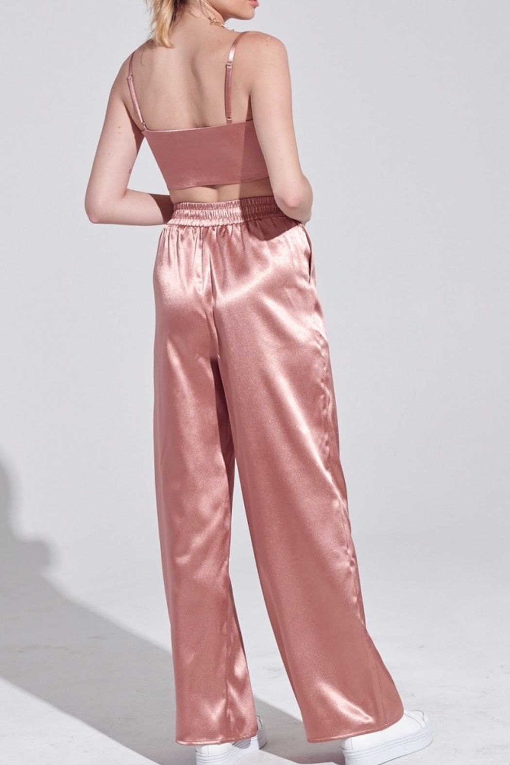 Rose Gold Pants Suit