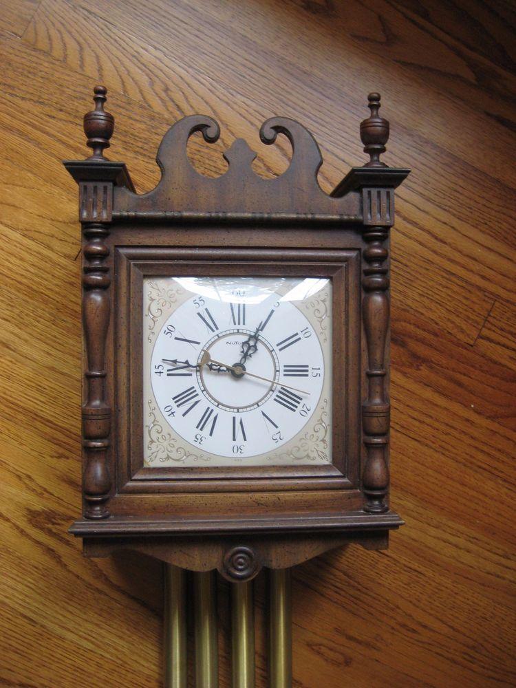 Nutone Doorbell Clock Vintage Mid Century K46 Jefferson
