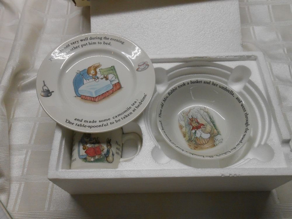 Wedgwood Beatrix Potter Peter Rabbit Nursery Set Mug Oatmeal