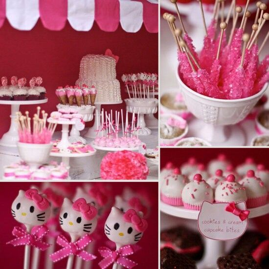 Hello kitty theme Birthday parties to come Pinterest Hello
