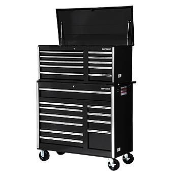 Craftsman 42 Inch 21 Drawer Tool Storage Combo Black Tool Chest