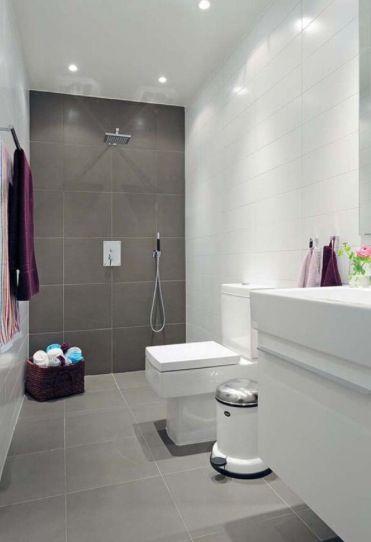 Tile Combination Grey Bathroom Tiles Simple Bathroom Bathroom Interior Design