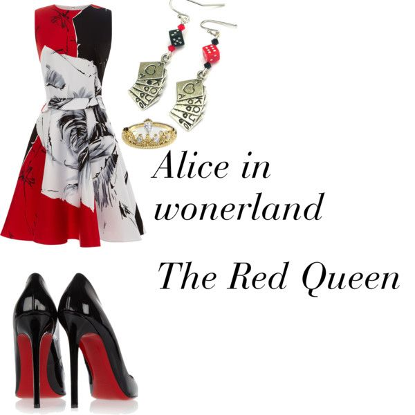 The Red Queen by olig on Polyvore featuring Prabal Gurung and Christian Louboutin