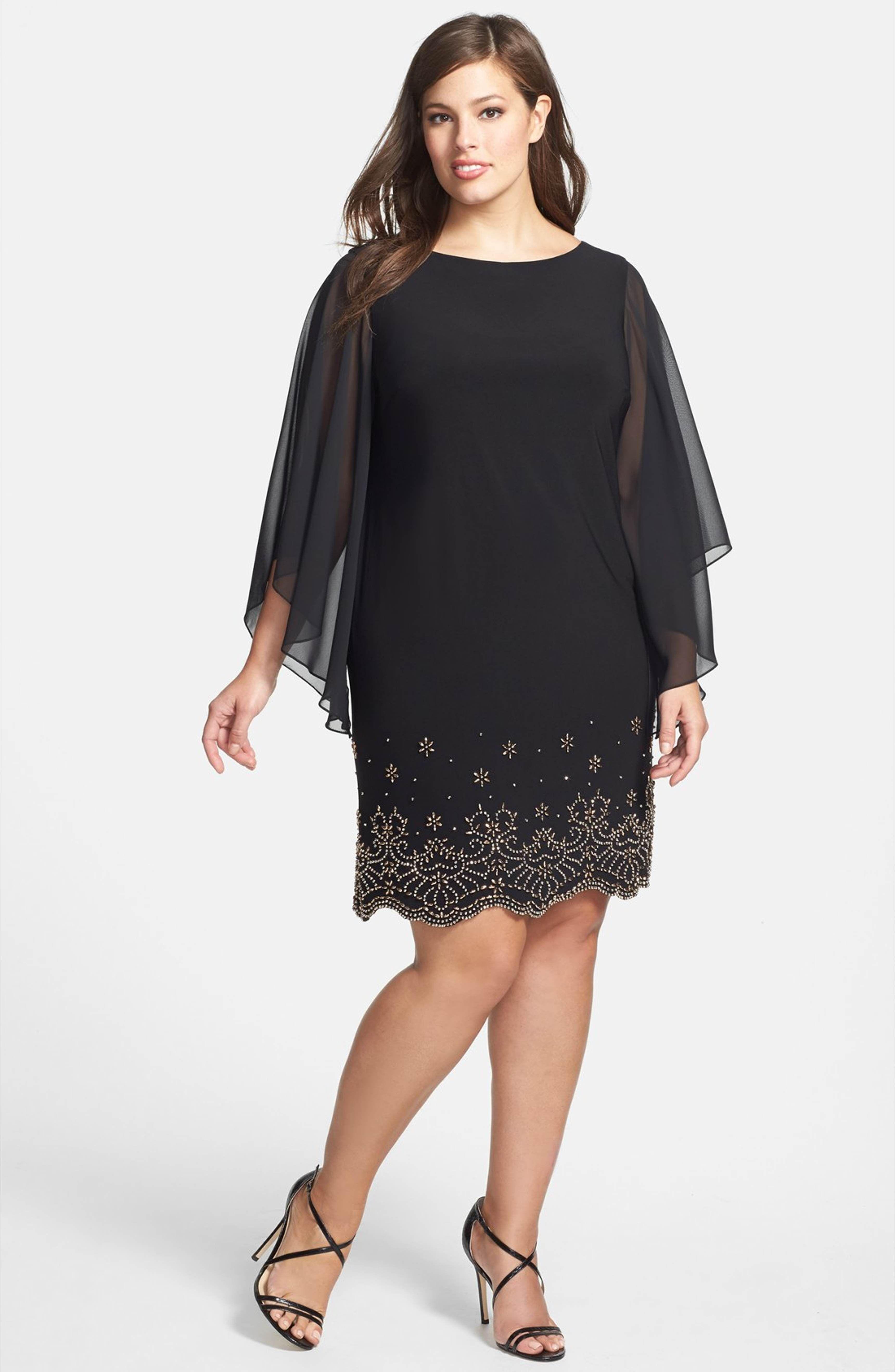 Embellished Chiffon Shift Dress | Nordstrom and Fashion