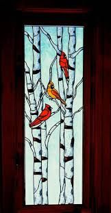 Image result for stained glass birds on branch pattern