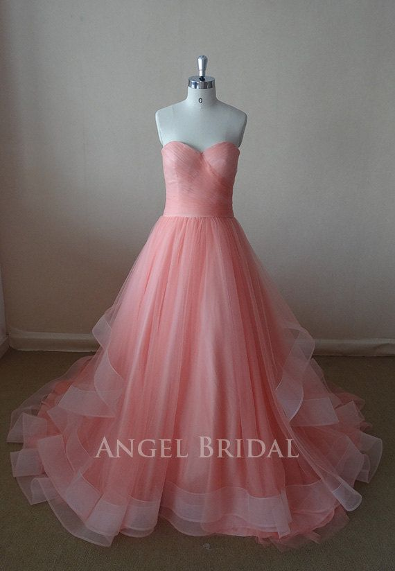 Hey, I found this really awesome Etsy listing at http://www.etsy.com/listing/154987341/a-line-coral-tulle-evening-dress-evening