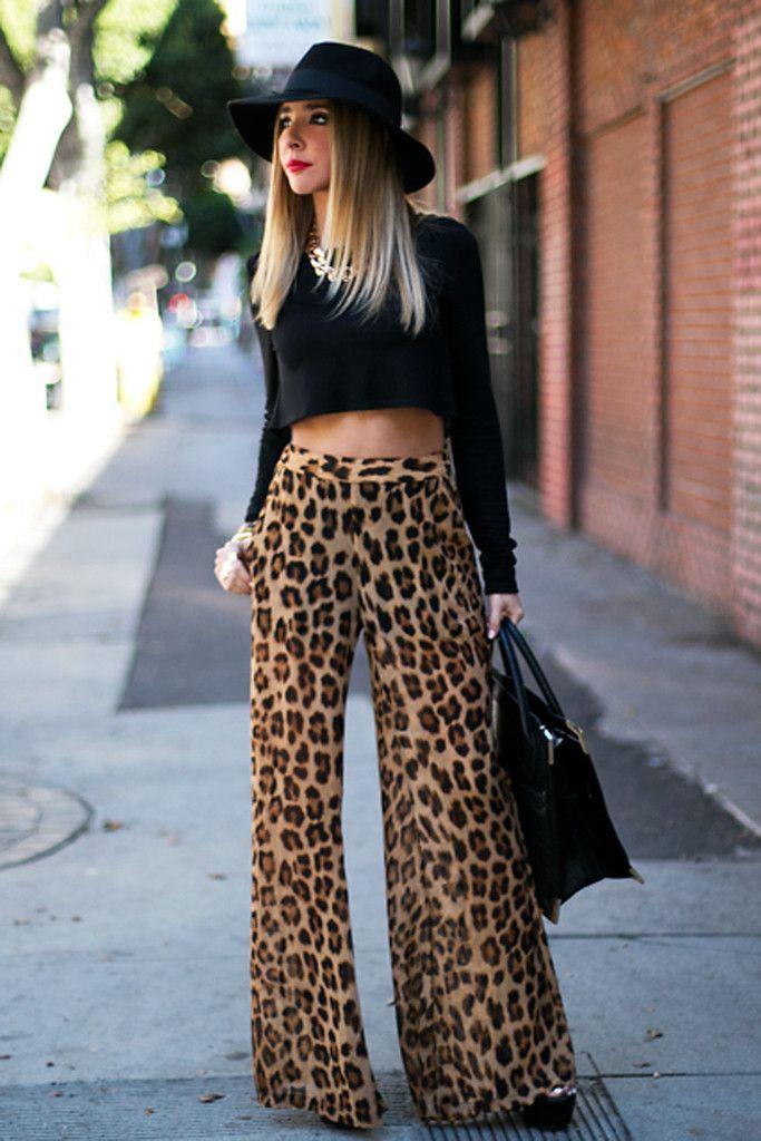 23572614eb08 Reyna leopard chiffon palazzo pant | LOVE | Fashion, Chiffon palazzo ...