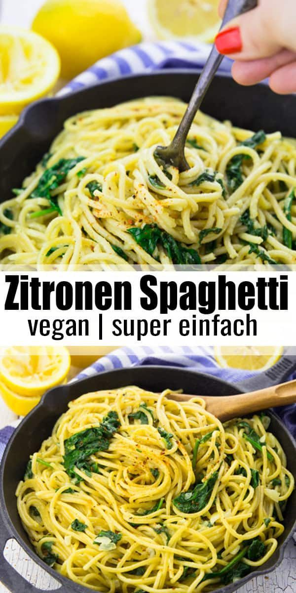 Photo of Lemon spaghetti with spinach