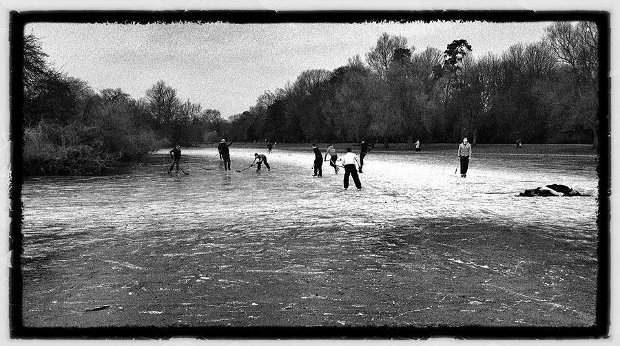 Boys Skating On The Lake St Albans Hertfordshire Water