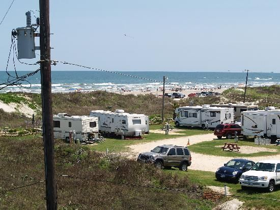 On The Beach Rv Park In Port Aransasa Texas Our First Time Camping At